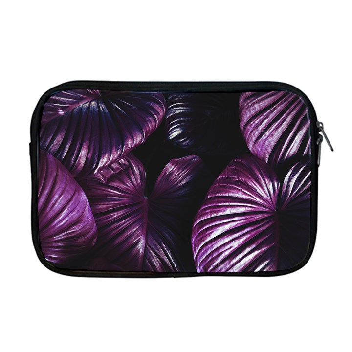 Purple Leaves Apple MacBook Pro 17  Zipper Case