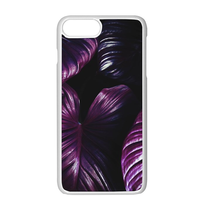 Purple Leaves iPhone 8 Plus Seamless Case (White)