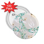 Floral Boho Watercolor Pattern 2.25  Buttons (100 pack)  Front