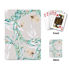 Floral Boho Watercolor Pattern Playing Cards Single Design (rectangle)