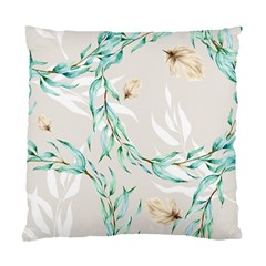 Floral Boho Watercolor Pattern Standard Cushion Case (one Side)