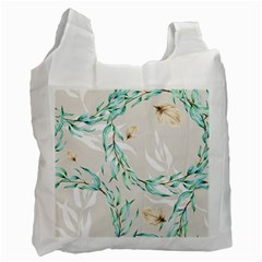 Floral Boho Watercolor Pattern Recycle Bag (two Side)