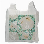 Floral Boho Watercolor Pattern Recycle Bag (Two Side) Back