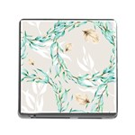Floral Boho Watercolor Pattern Memory Card Reader (Square 5 Slot) Front