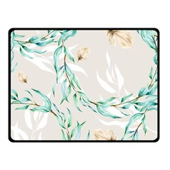 Floral Boho Watercolor Pattern Double Sided Fleece Blanket (small)