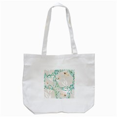 Floral Boho Watercolor Pattern Tote Bag (white)