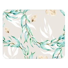 Floral Boho Watercolor Pattern Double Sided Flano Blanket (large)