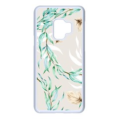 Floral Boho Watercolor Pattern Samsung Galaxy S9 Seamless Case(white)