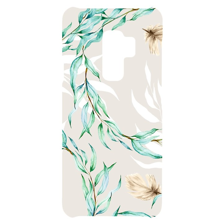 Floral Boho Watercolor Pattern Samsung S9 Plus Black UV Print Case