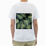 Closeup Photo Of Green Variegated Leaf Plants Men s T-Shirt (White) (Two Sided) Back