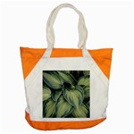 Closeup Photo Of Green Variegated Leaf Plants Accent Tote Bag Front