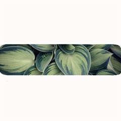 Closeup Photo Of Green Variegated Leaf Plants Large Bar Mats by Pakrebo