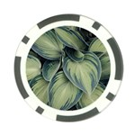 Closeup Photo Of Green Variegated Leaf Plants Poker Chip Card Guard Back