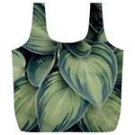 Closeup Photo Of Green Variegated Leaf Plants Full Print Recycle Bag (XL) Back