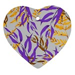 Floral Boho Watercolor Pattern Ornament (Heart) Front