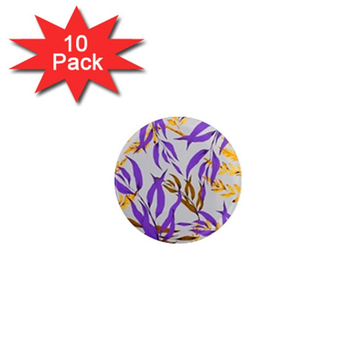 Floral Boho Watercolor Pattern 1  Mini Magnet (10 pack)