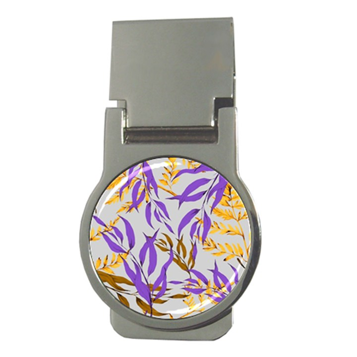 Floral Boho Watercolor Pattern Money Clips (Round)