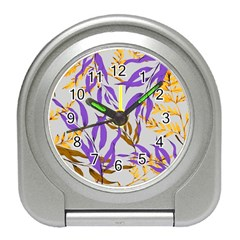 Floral Boho Watercolor Pattern Travel Alarm Clock