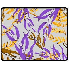 Floral Boho Watercolor Pattern Fleece Blanket (medium)