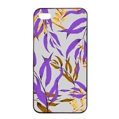 Floral Boho Watercolor Pattern Iphone 4/4s Seamless Case (black)