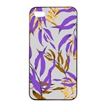 Floral Boho Watercolor Pattern iPhone 4/4s Seamless Case (Black) Front