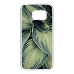 Closeup Photo Of Green Variegated Leaf Plants Samsung Galaxy S7 White Seamless Case Front