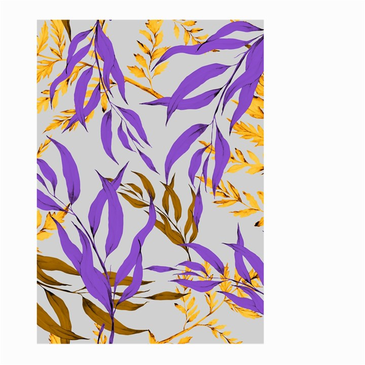 Floral Boho Watercolor Pattern Large Garden Flag (Two Sides)