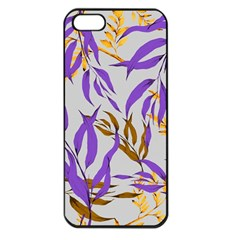Floral Boho Watercolor Pattern Iphone 5 Seamless Case (black) by tarastyle