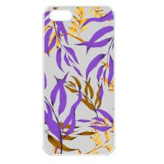 Floral Boho Watercolor Pattern Iphone 5 Seamless Case (white) by tarastyle