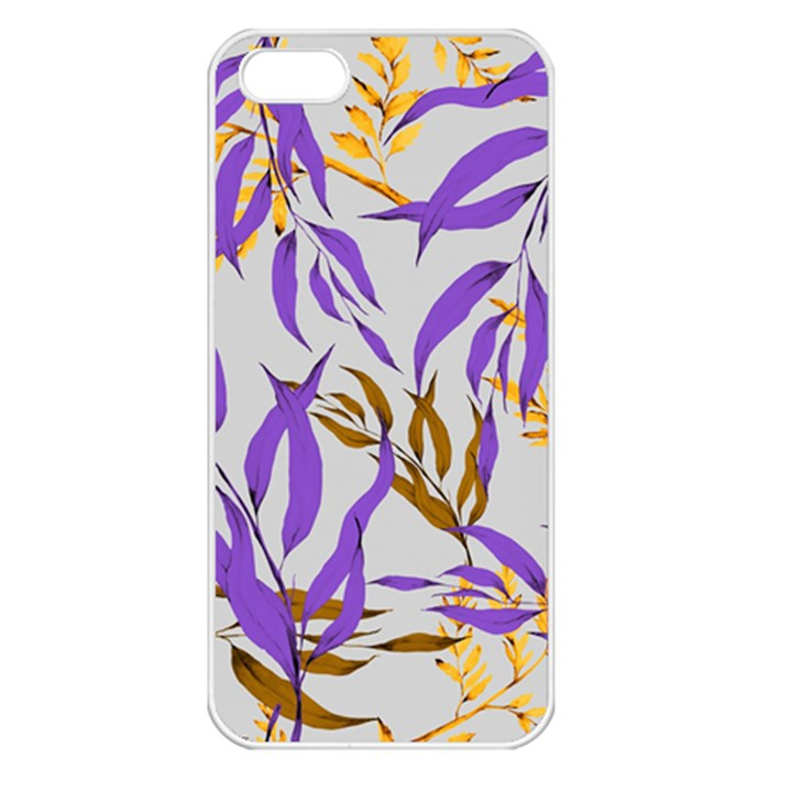 Floral Boho Watercolor Pattern iPhone 5 Seamless Case (White)