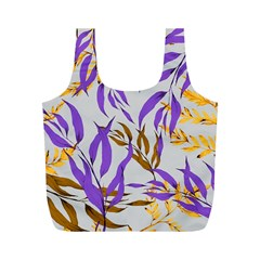 Floral Boho Watercolor Pattern Full Print Recycle Bag (m)