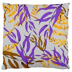 Floral Boho Watercolor Pattern Large Flano Cushion Case (one Side)