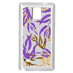 Floral Boho Watercolor Pattern Samsung Galaxy Note 4 Case (white)