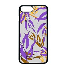Floral Boho Watercolor Pattern Iphone 7 Plus Seamless Case (black) by tarastyle