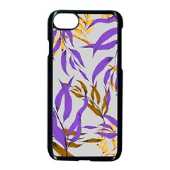 Floral Boho Watercolor Pattern Iphone 7 Seamless Case (black) by tarastyle