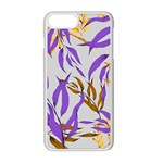Floral Boho Watercolor Pattern iPhone 8 Plus Seamless Case (White) Front