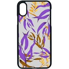 Floral Boho Watercolor Pattern Iphone Xs Seamless Case (black)