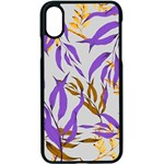 Floral Boho Watercolor Pattern iPhone XS Seamless Case (Black) Front