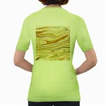 Brown And Yellow Abstract Painting Women s Green T-Shirt Back