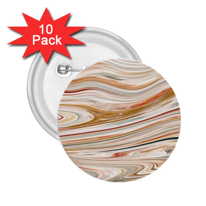 Brown And Yellow Abstract Painting 2.25  Buttons (10 pack)