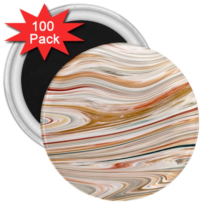 Brown And Yellow Abstract Painting 3  Magnets (100 pack)