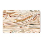 Brown And Yellow Abstract Painting Magnet (Rectangular) Front