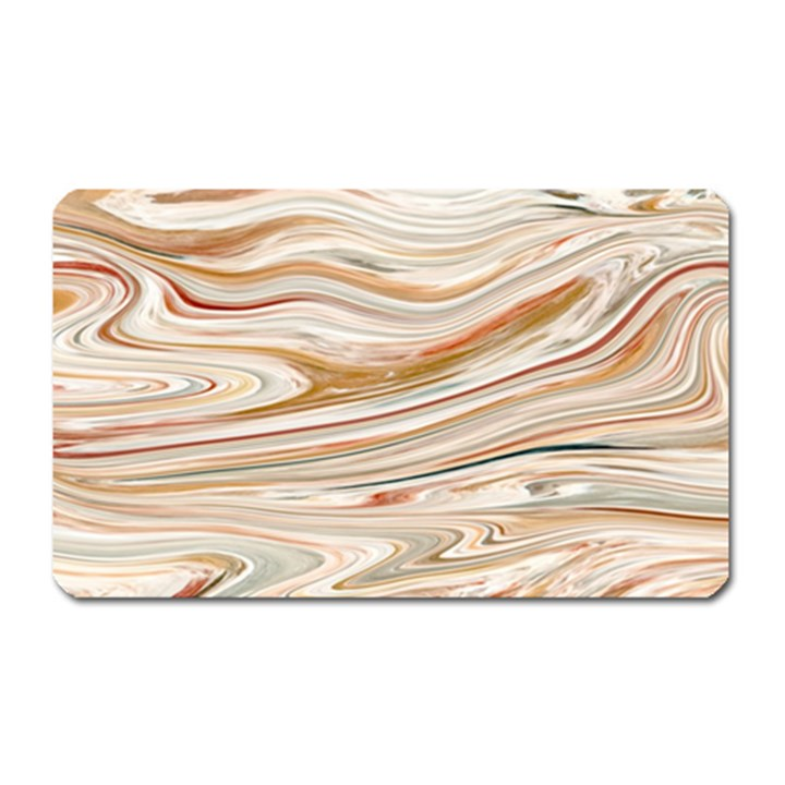 Brown And Yellow Abstract Painting Magnet (Rectangular)