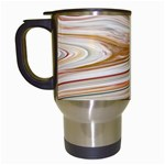 Brown And Yellow Abstract Painting Travel Mugs (White) Left