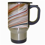 Brown And Yellow Abstract Painting Travel Mugs (White) Right