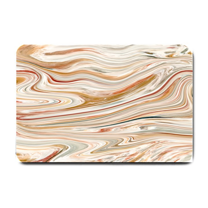 Brown And Yellow Abstract Painting Small Doormat
