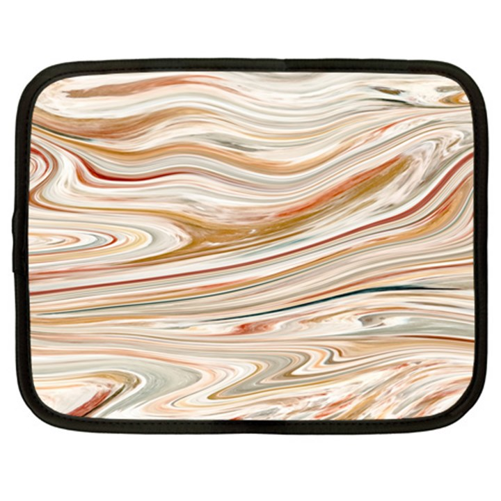 Brown And Yellow Abstract Painting Netbook Case (Large)