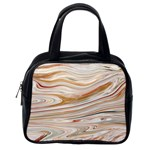Brown And Yellow Abstract Painting Classic Handbag (One Side) Front
