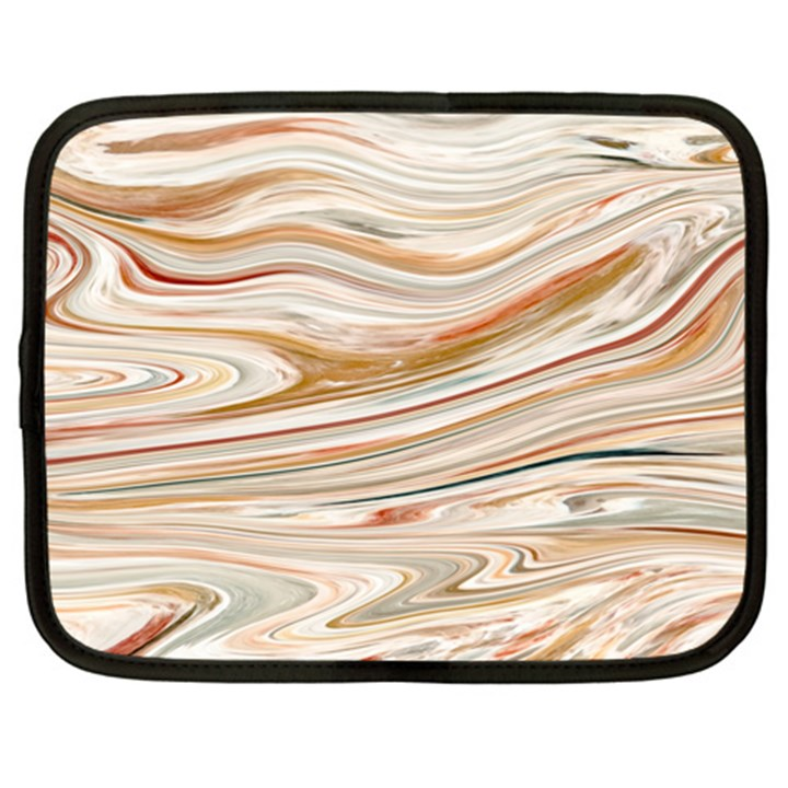 Brown And Yellow Abstract Painting Netbook Case (XXL)