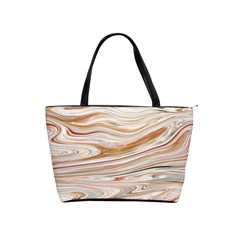Brown And Yellow Abstract Painting Classic Shoulder Handbag